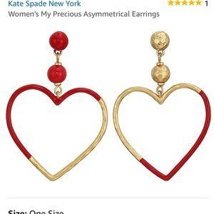 Kate spade heart earrings NEVER WORN